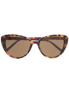 солнцезащитные очки с эффектом черепашьего панциря Linda Farrow