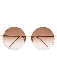 солнцезащитные очки 343 C6 в круглой оправе Linda Farrow