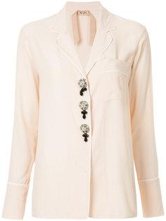 рубашка с контрастной отделкой  Nº21