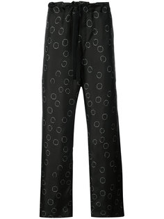 широкие брюки с рисунком Ann Demeulemeester