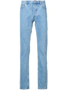 джинсы прямого кроя A.P.C.