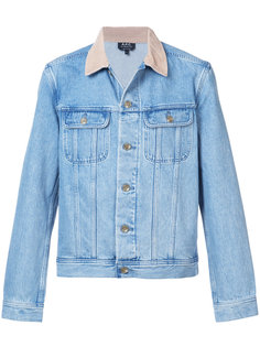 джинсовая куртка с контрастным воротником A.P.C.