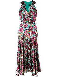 платье с цветочным рисунком Saloni