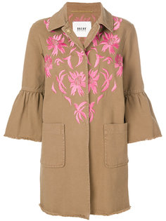 embroidered trumpet sleeve denim coat Bazar Deluxe