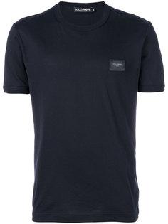 футболка с бляшкой с логотипом Dolce & Gabbana