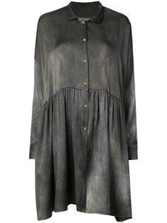 расклешенная рубашка кроя оверсайз Uma Wang