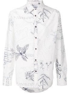 приталенная рубашка Explorer с принтом  Alexander McQueen