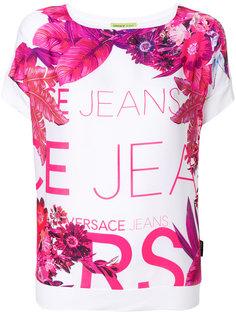 футболка с цветочным принтом  Versace Jeans