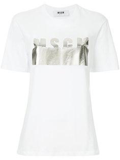 футболка с логотипом металлик  MSGM