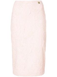 юбка-карандаш с цветочной вышивкой Cavalli Class