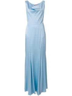 вечернее платье с отвисающей горловиной Moschino