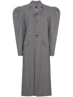 однобортное пальто с объемными рукавами  Blindness