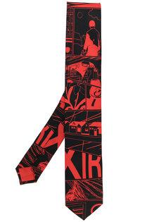 галстук с принтом Prada