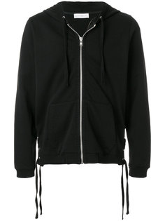 lace-up side detail zipped front hoodie Faith Connexion
