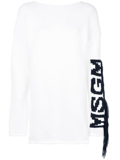 logo knitted dress MSGM