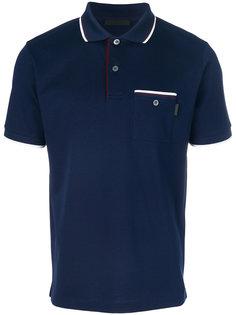 рубашка-поло с контрастной отделкой Prada