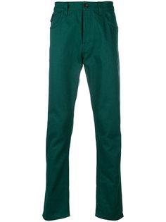брюки-чинос узкого кроя с заплаткой Prada