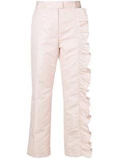 брюки с оборками Dallas MSGM