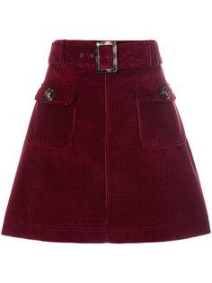 вельветовая мини-юбка Alexa Chung