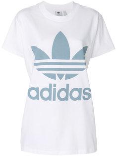 оверсайз-футболка с логотипом Adidas Originals Trefoil Adidas