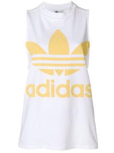 топ с логотипом Adidas Originals Trefoil Adidas