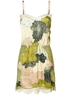 короткое платье с кружевными панелями Off-White