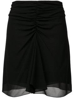юбка со сборками Saint Laurent