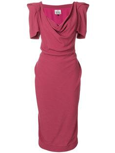 платье миди с вырезом хомут  Vivienne Westwood