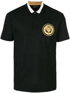 футболка-поло с нашивкой Medusa Versace