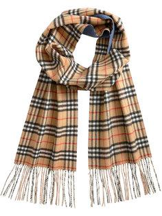 длинный винтажный шарф с узором в клетку Burberry