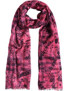шарф с принтом Doodle Burberry
