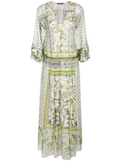 длинное платье-туника с принтом Alberta Ferretti