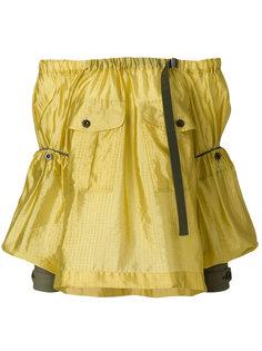 блузка с открытыми плечами  Sacai