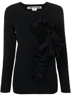 свитер с вырезной деталью и оборками Comme Des Garçons