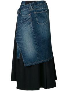 deconstructed denim skirt Junya Watanabe Comme Des Garçons Man