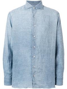 джинсовая рубашка в полоску Lardini