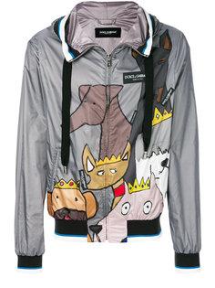 куртка с капюшоном и заплатками K-Way Dolce & Gabbana
