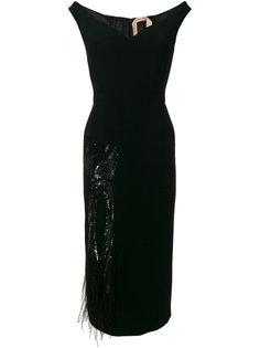embellished off-shoulder dress Nº21