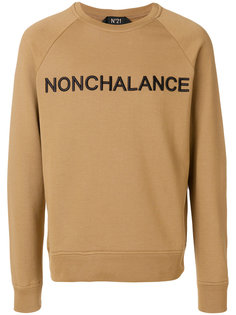 Nonchalance embroidered sweatshirt Nº21
