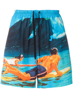 surf print deck shorts Nº21