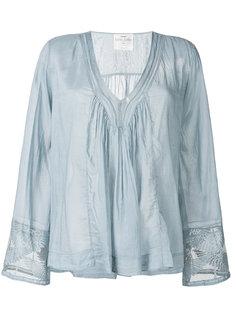 блузка с V-образным вырезом и присборенной деталью  Forte Forte
