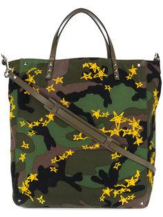 сумка с камуфляжным принтом Valentino