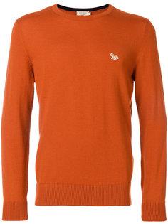 свитер с вышитой лисой Maison Kitsuné