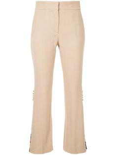 брюки с цветочными панелями MSGM
