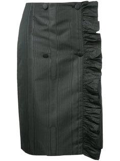 асимметричная юбка-карандаш с оборкой  MSGM