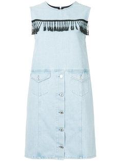 джинсовое платье без рукавов MSGM
