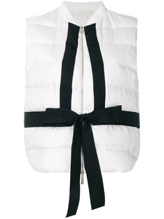 contrast tie gilet Moncler Gamme Rouge