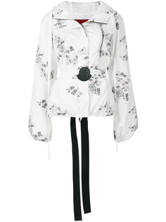 floral patch hooded jacket Moncler Gamme Rouge