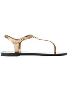 сандалии с логотипом Dolce & Gabbana