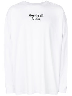 Nine Flags long sleeve tee Marcelo Burlon County Of Milan